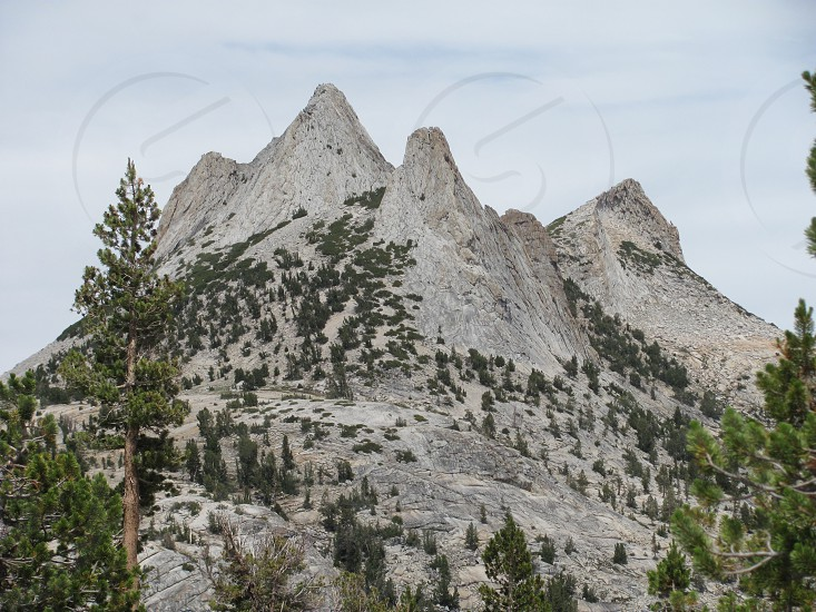 Three peaks located in the Yosemite Valley photo