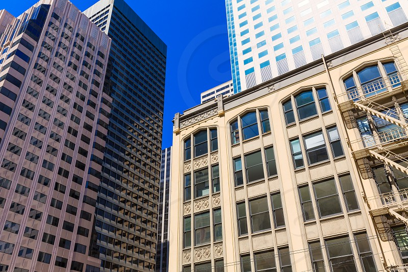 San Francisco downtown buildings in California USA photo