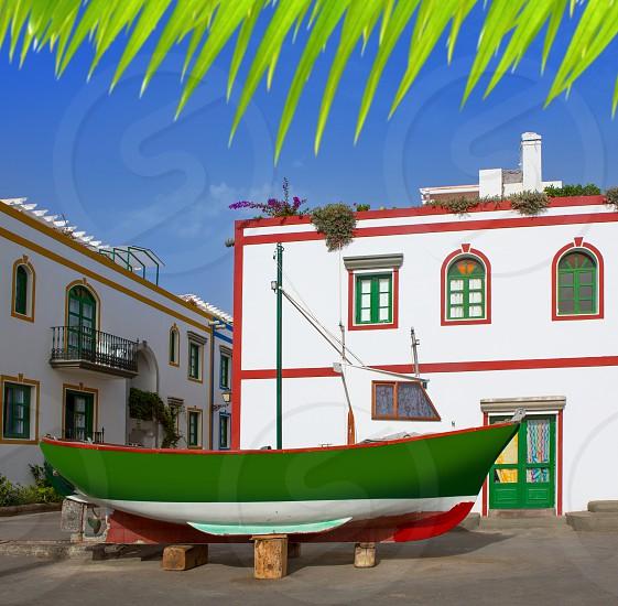 Gran canaria Puerto de Mogan white houses colonial in canary Islands photo