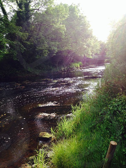 River sunlight in Derrygonnelly Fermanagh Norther Ireland photo