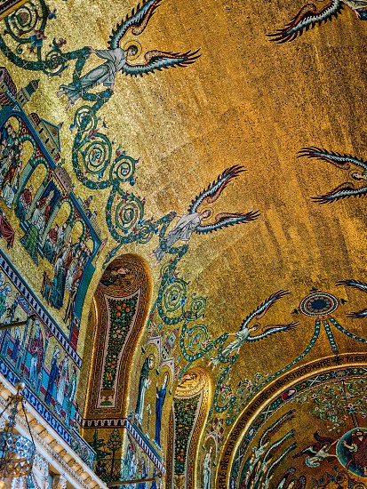 Artwork on the Wall of Westminster Cathedral photo