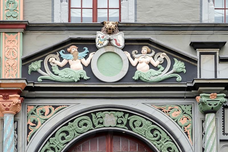 Unusual building in Weimar photo