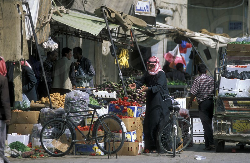 the market in the city of Deir ez zur in the east of Syria in the middle east photo