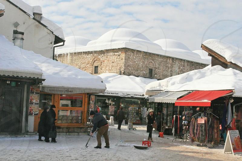 Bascarsija - Sarajevo in winter photo