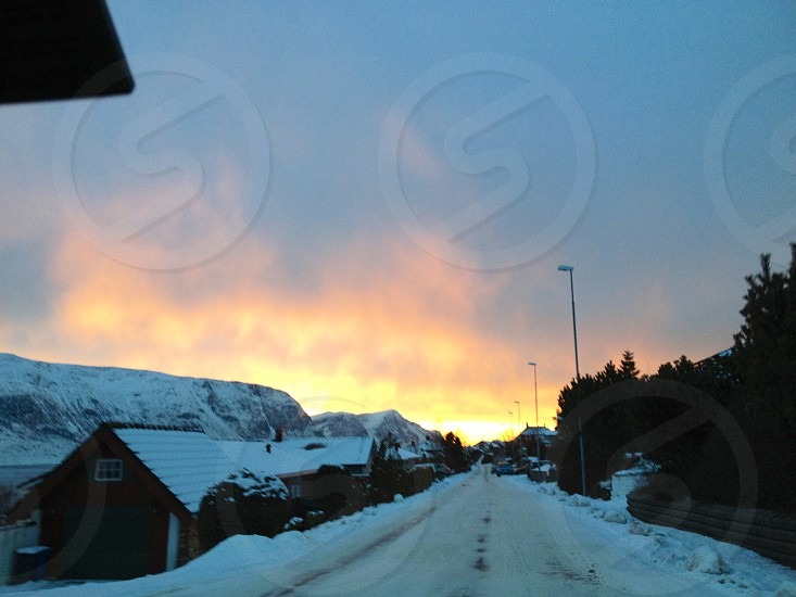 Norway • Sunset • Snow photo