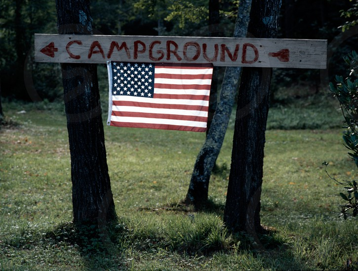 flag campground photo