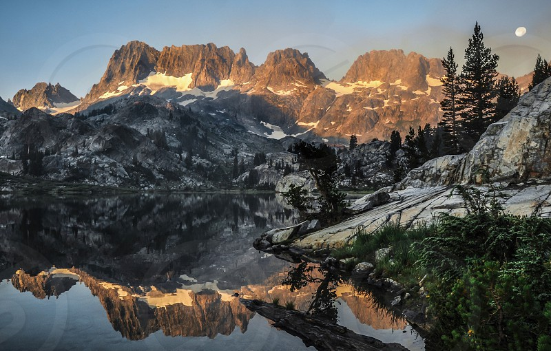 Ediza Lake on a smoky morning  photo