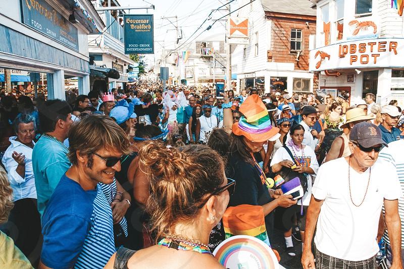 Pride parade Provincetown cape cod gay summer fun people photo