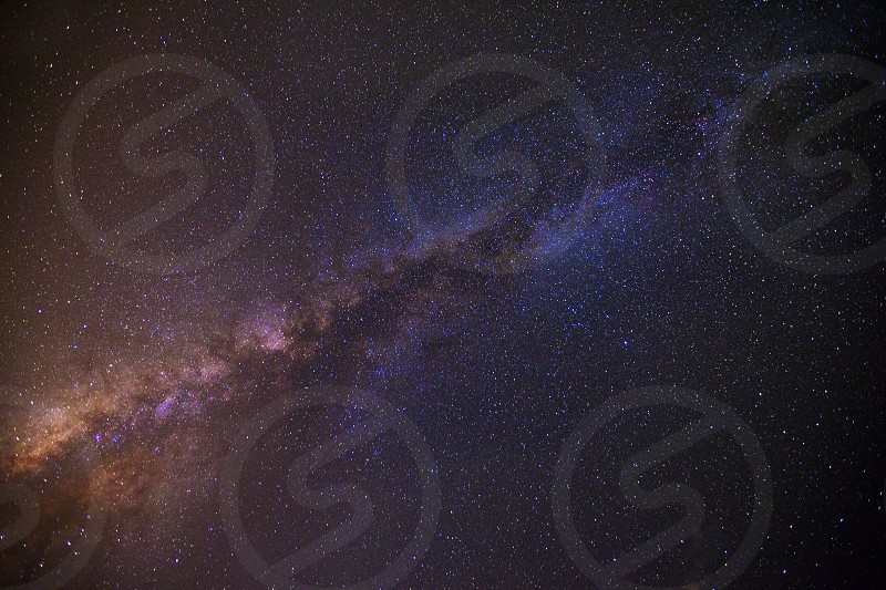 milky way stars night colors photo