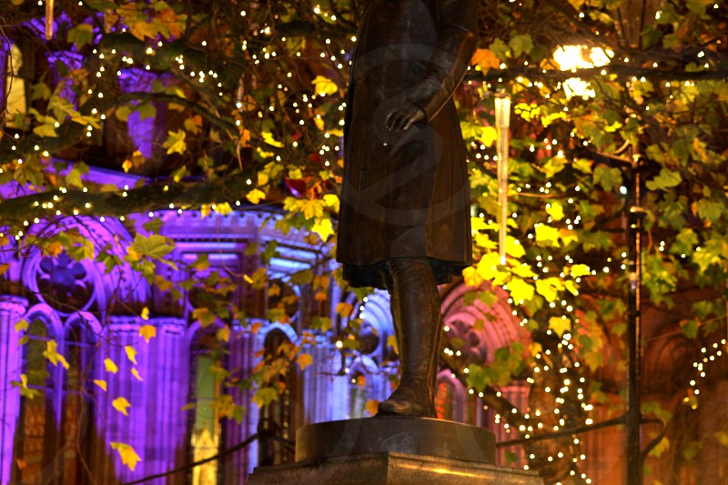 Festive Lights Albert Square Manchester photo