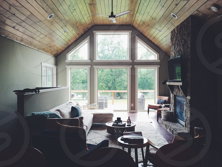 river house Virginia design interior windows Shenandoah fan photo