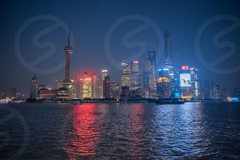 Shanghai towe - Shanghai city view. photo