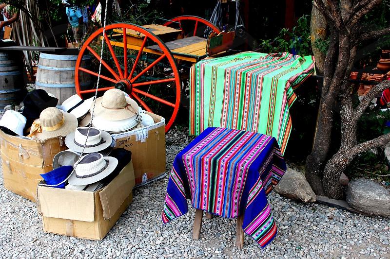 Woven fabrics tablecloths  photo