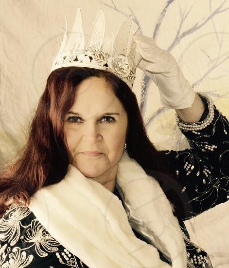 Queen princess tiara gloves.  photo