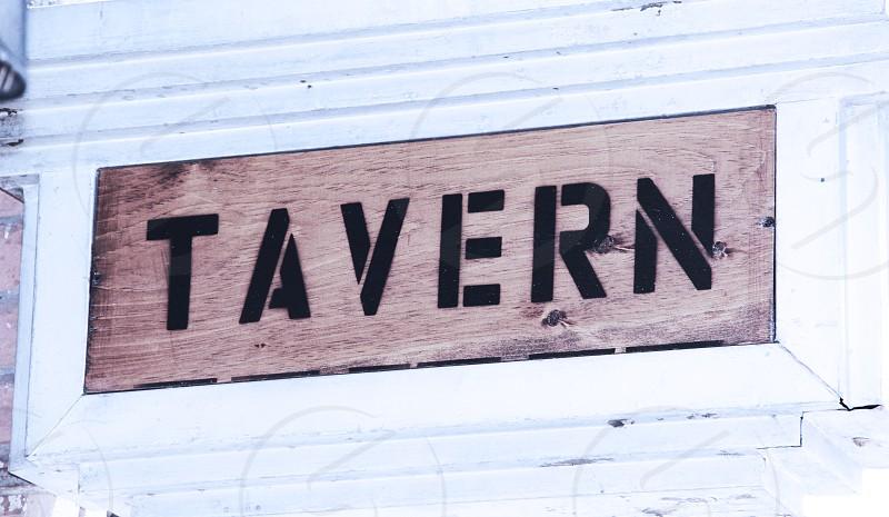 Sign tavern retro street wood  photo