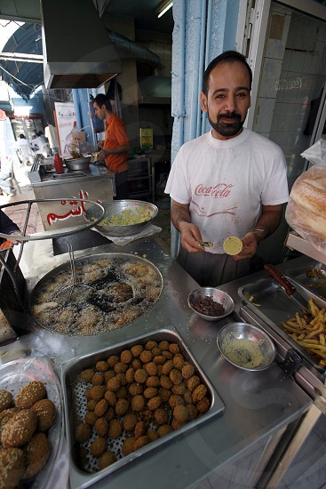 a Restaurant in the City Amman in Jordan in the middle east. photo