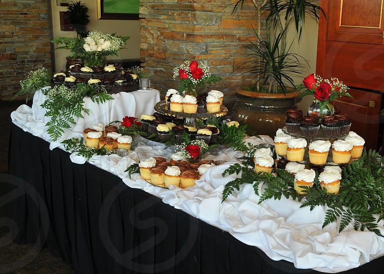 Cupcake Table @ Mark and Rebecca's wedding Serrano Country Club photo