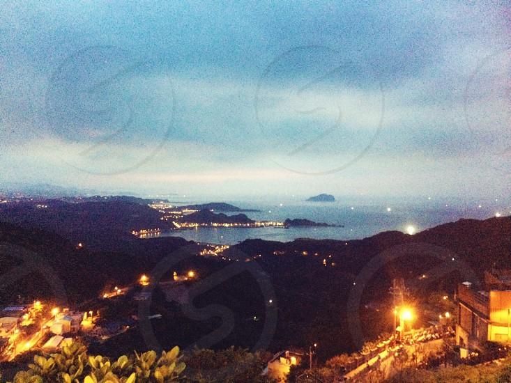 The night of Jiufen Taipei Taiwan. photo