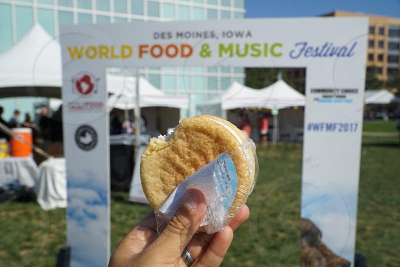 Food festival homemade ice cream sandwich Des Moines Iowa  photo