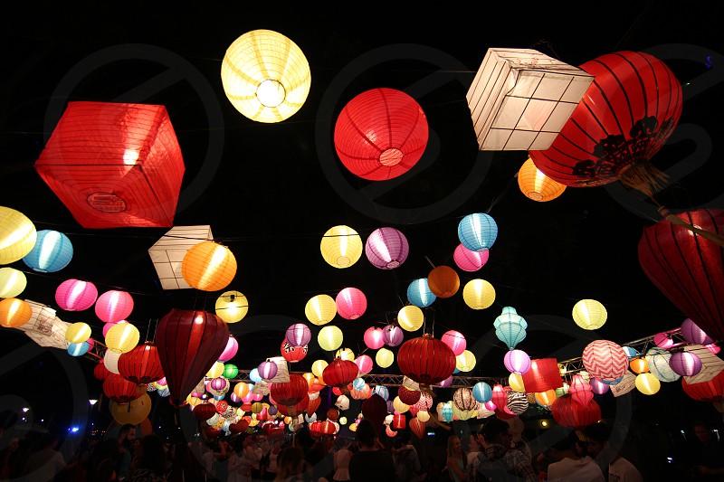 oriental lanterns diversity night  photo