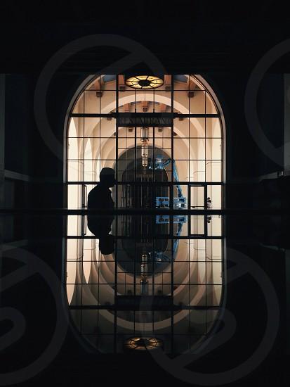 black metal door photo