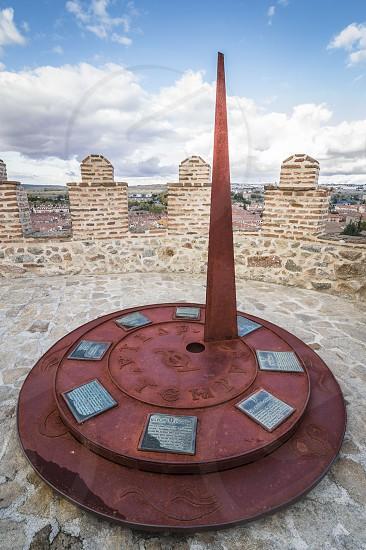 Marsala sundial at spanish historical city center photo