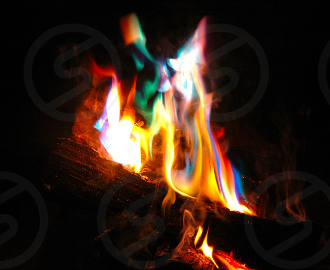 burning wood and metals photo