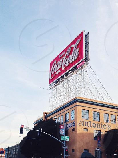coca cola sign photo