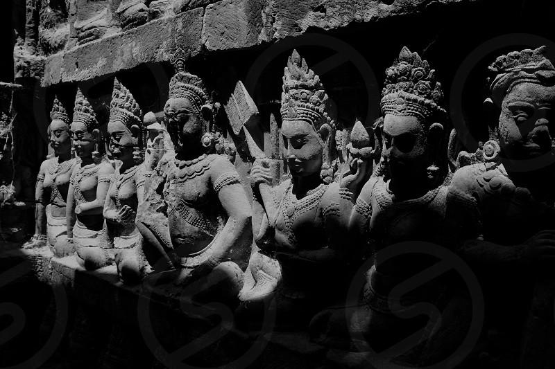 Temple architecture in Cambodia photo