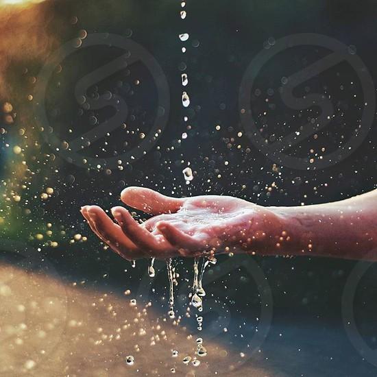 Water summer love splash fun hand cute drops sun photo