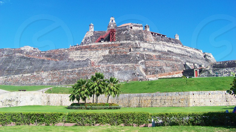 Fortress of San Felipe de Barajas in Cartagena Colombia photo