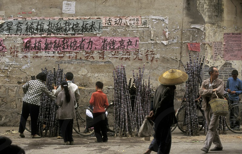 a market in the town of Yangshou near the city of  Guilin in the Province of Guangxi in china in east asia.  photo