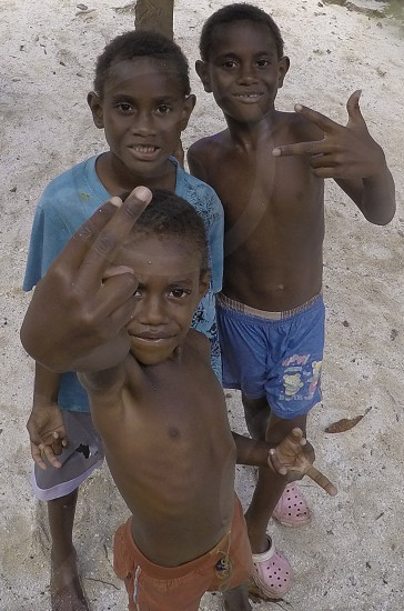 African Kids on the sand. photo