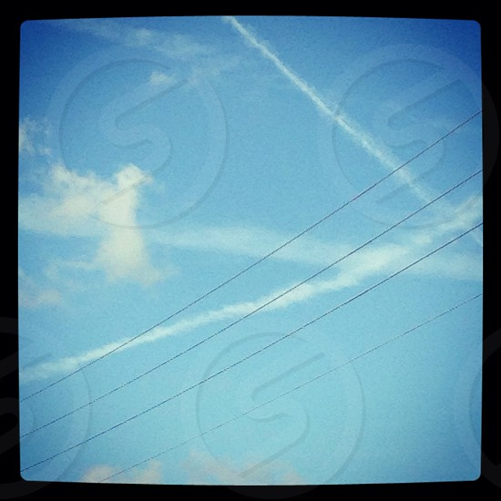 sky view photography  photo