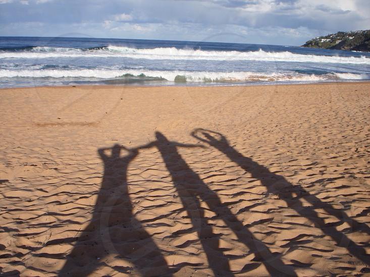 Shadow friends on Palm Beach Australia  photo