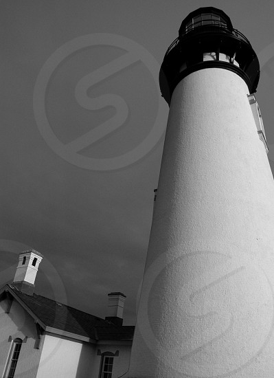 Lighthouse. Monochrome. Black and White. photo