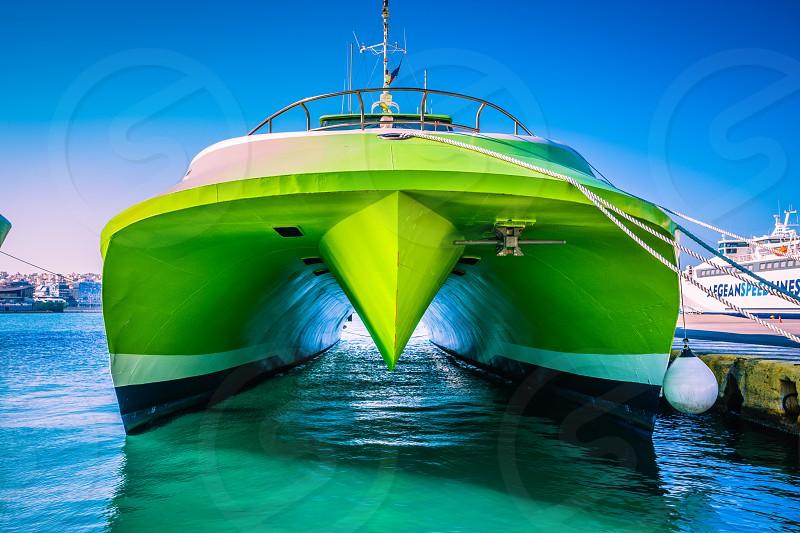 FastCat Ferry Port Piraeus Greece. photo