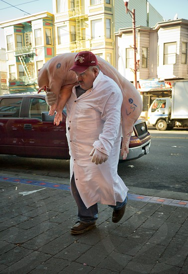Butcher at the corner of 16th and Mission. photo