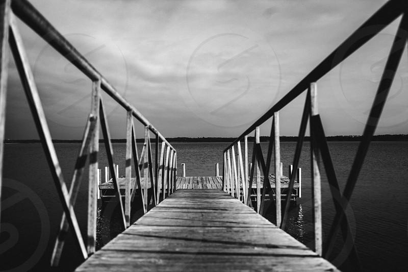 Lake Texas winter water dock photo