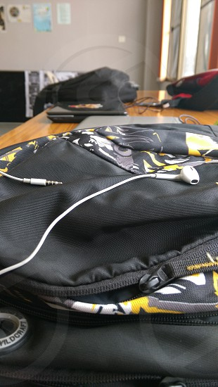 Bag and earphones photo
