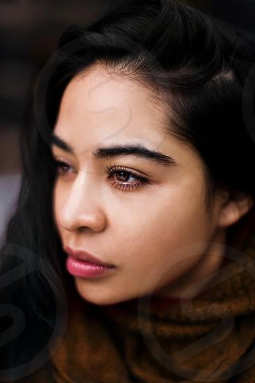 Portrait girl beauty Latina Latin eyes lips gorgeous beautiful Hispanic portrait  photo