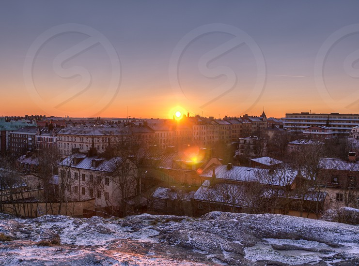 sun set view photo