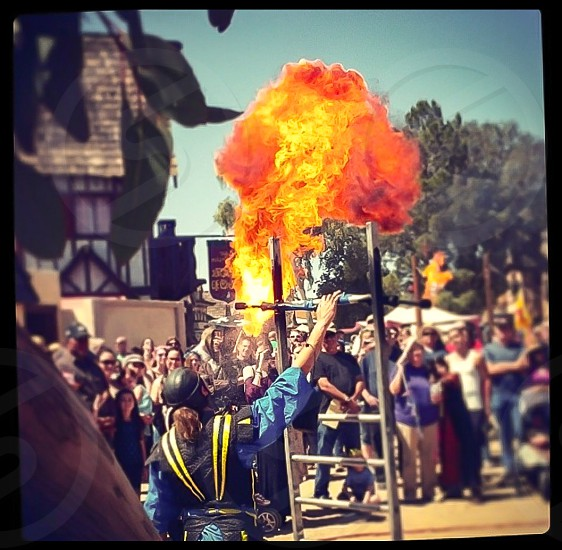 Arizona Renaissance festival fire fun family photo