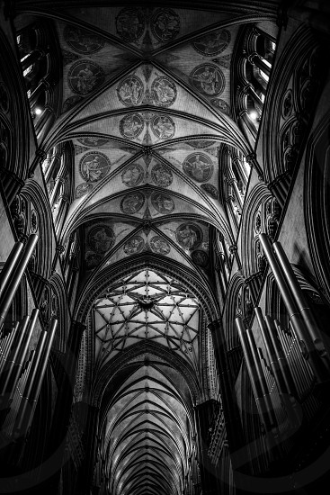 Interior View of Salisbury Cathedral photo