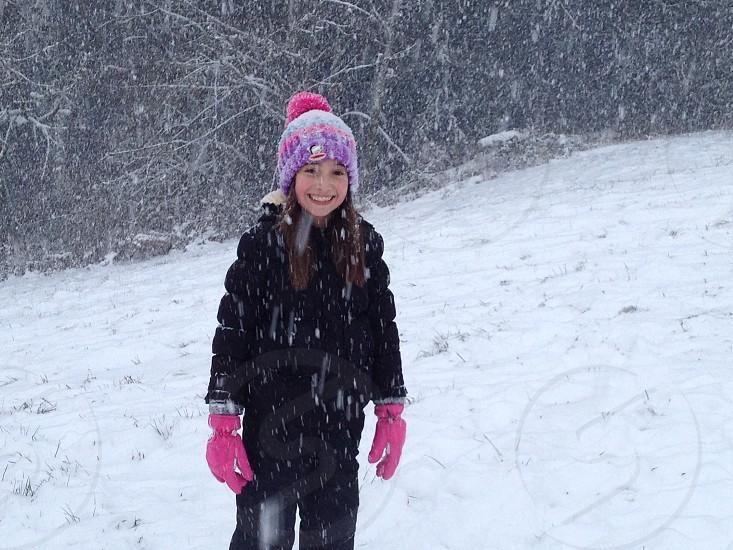 Girl in snow photo