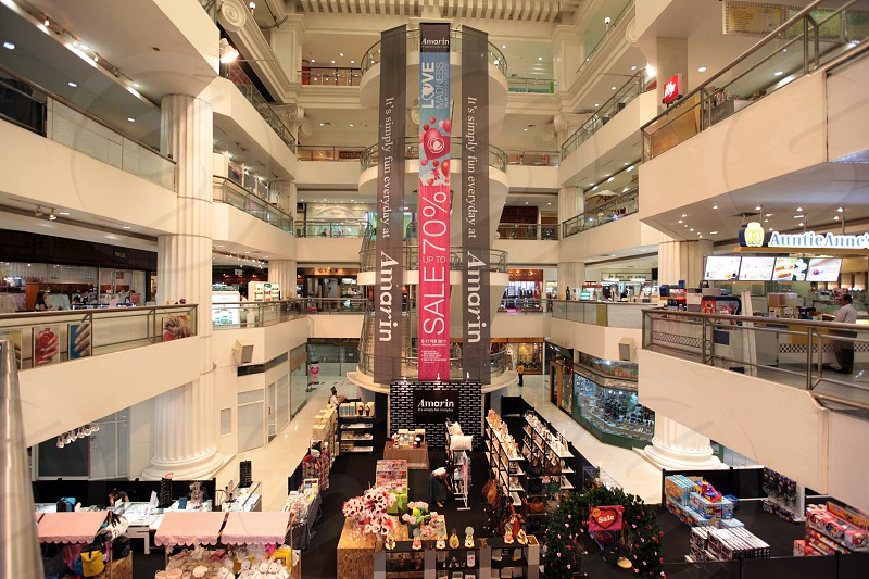 a shopping mall in the city centre at the pratunam aerea in the city of Bangkok in Thailand in Suedostasien. photo