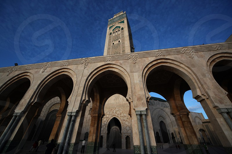 The Hassan 2 Mosque in the City of Casablanca in Morocco  North Africa. photo