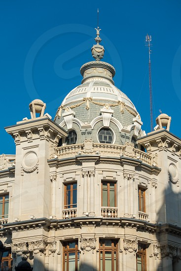 VALENCIA SPAIN - FEBRUARY 24 : Historical Post Office building in the Town Hall Square of Valencia Spain on February 24 2019 photo
