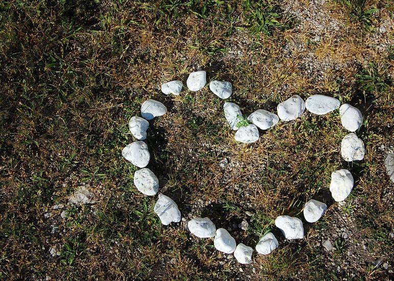 gray heart shaped rocks photo