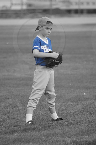 Lil slugger ready for some baseball action!  photo